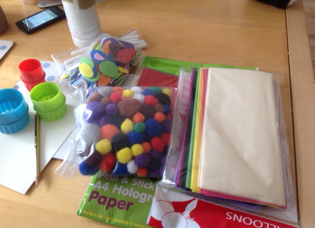 Toddler Craft for a wet day