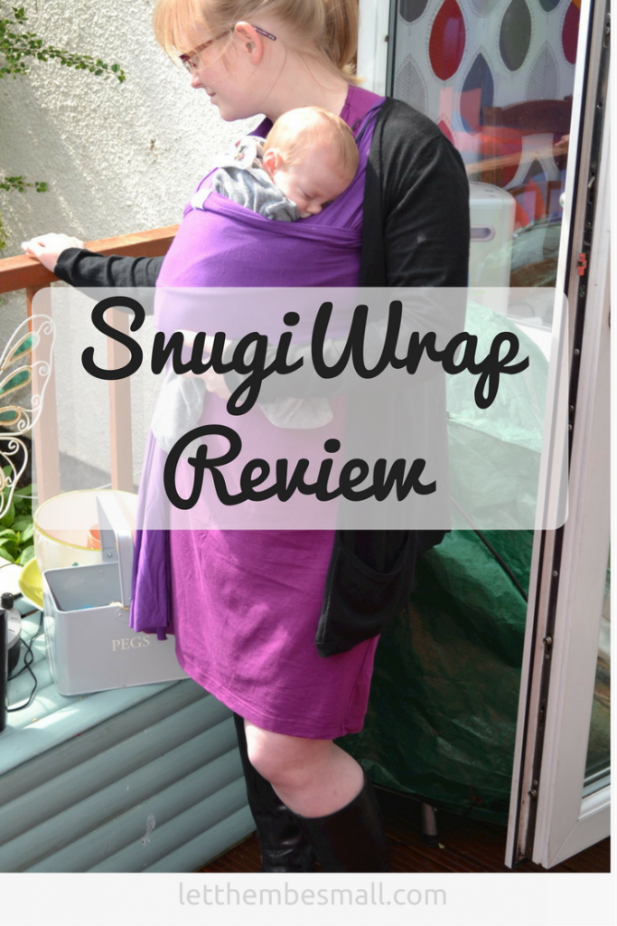 review of the stretchy wrap from SnugiWrap - perfect for babywearing a newborn