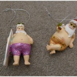 Holiday father christmas decoration