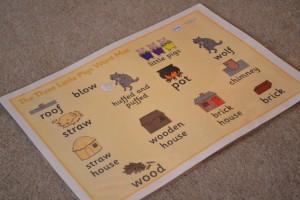 3 pigs word mat