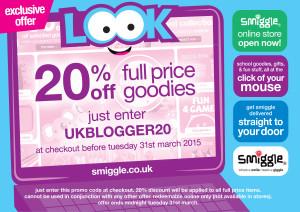 smiggle discount code