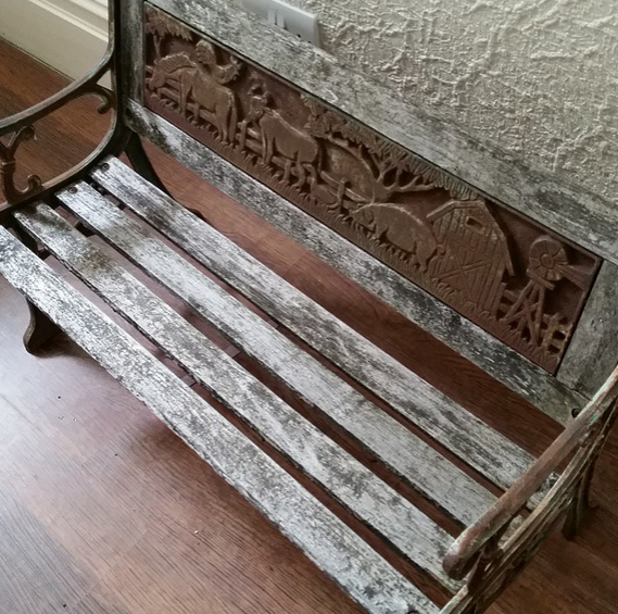 old childrens bench
