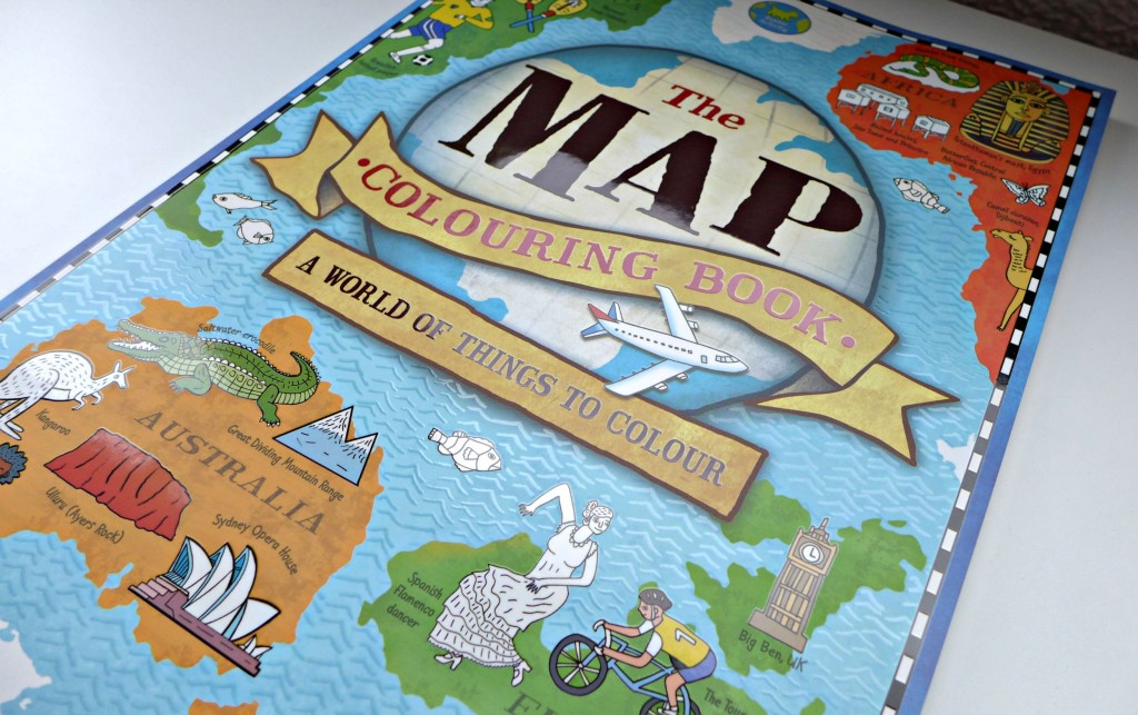 map colouring book buster books