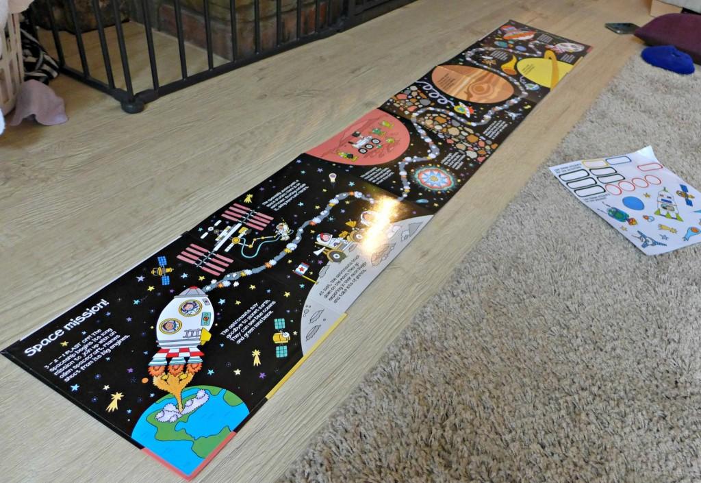Spaceship Sticker mat