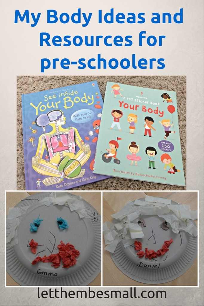 Resources and ideas for learning about the body with young children (toddlers and pre schoolers )