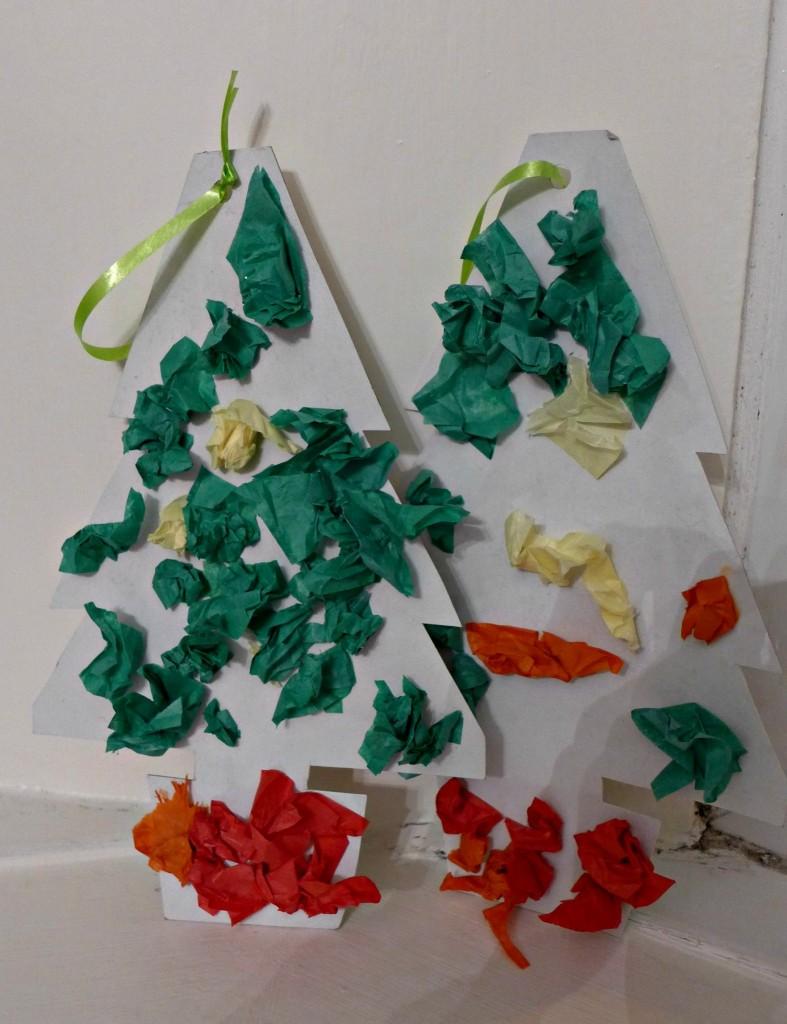 toddler christmas tree craft