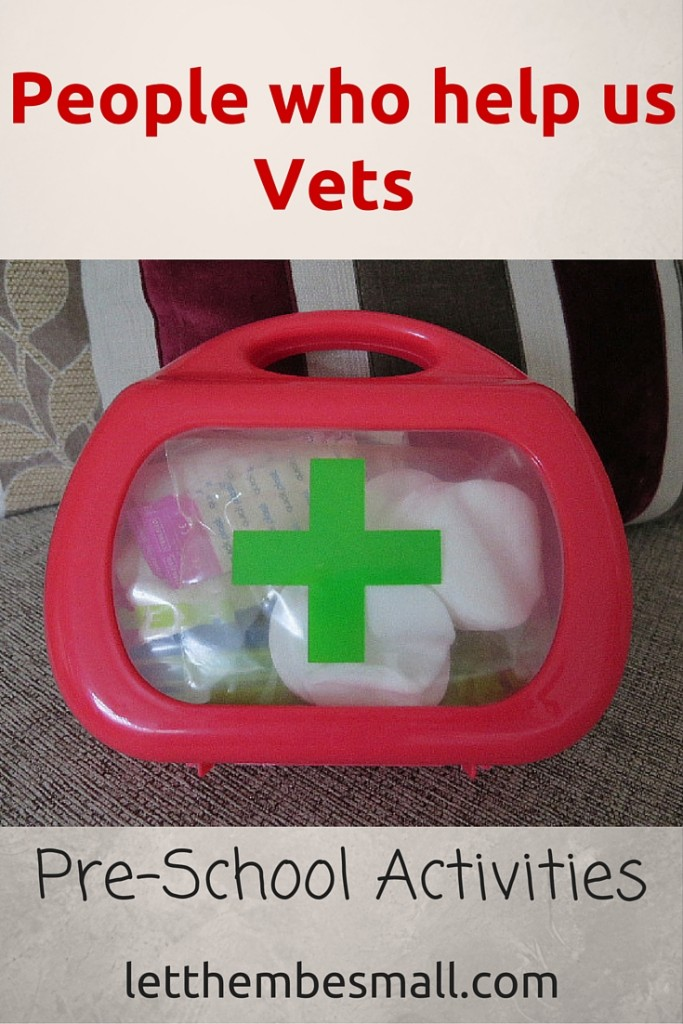 People who help us - Vets activities for pre schoolers