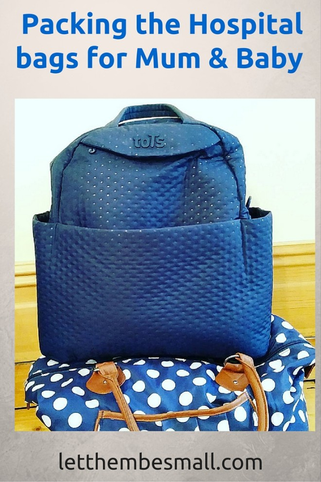 guide for what to pack in the hospital bags for baby and mum