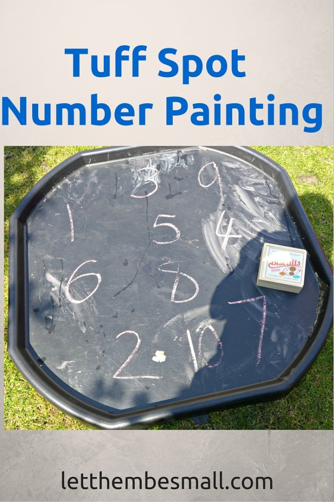tuff spot number painting has so many different ways to extend early maths and number knowledge - great fun for pre schoolers