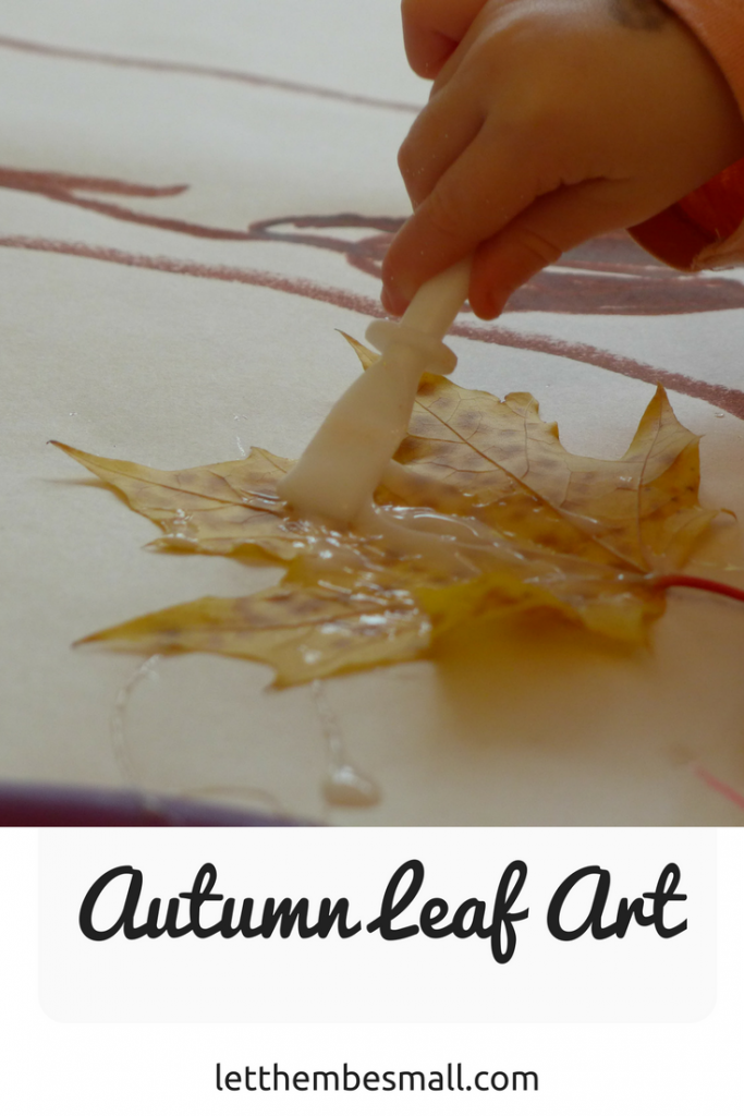 super autumn (fall) art idea for pre schoolers to demonstrate how a tree grows from a seed
