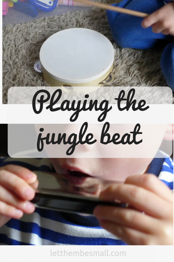 Music is a great activity for children to express themselves - great ideas for a jungle themed music session