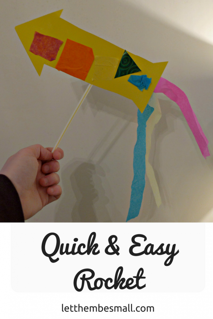 this quick and easy rocket craft is the perfect invitation to play for toddlers and pre-schoolers and lots of opportunities to extend learning