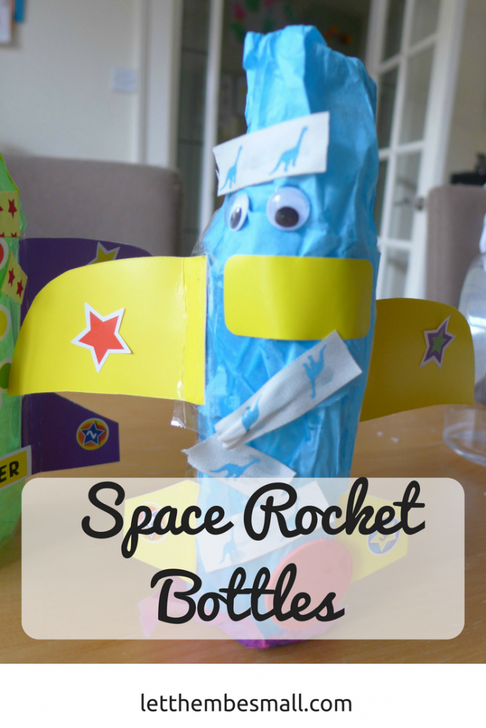 These rocket bottles are great for preschoolers and a good way to celebrate space