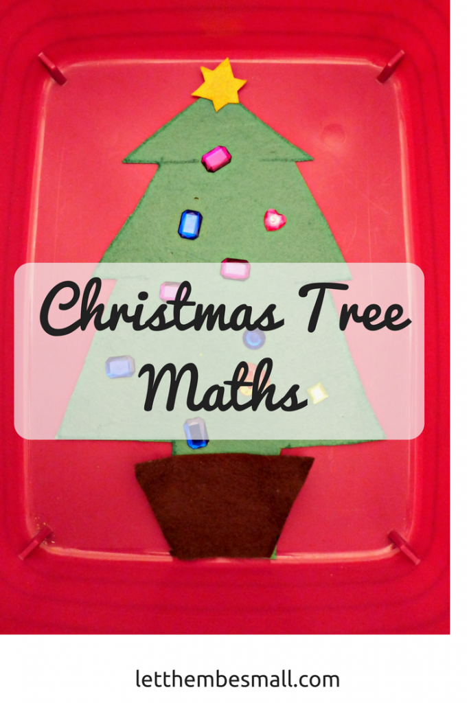 This Christmas tree maths game is a fun way to introduce number bonds and ideas of less and more for younger children as well as counting