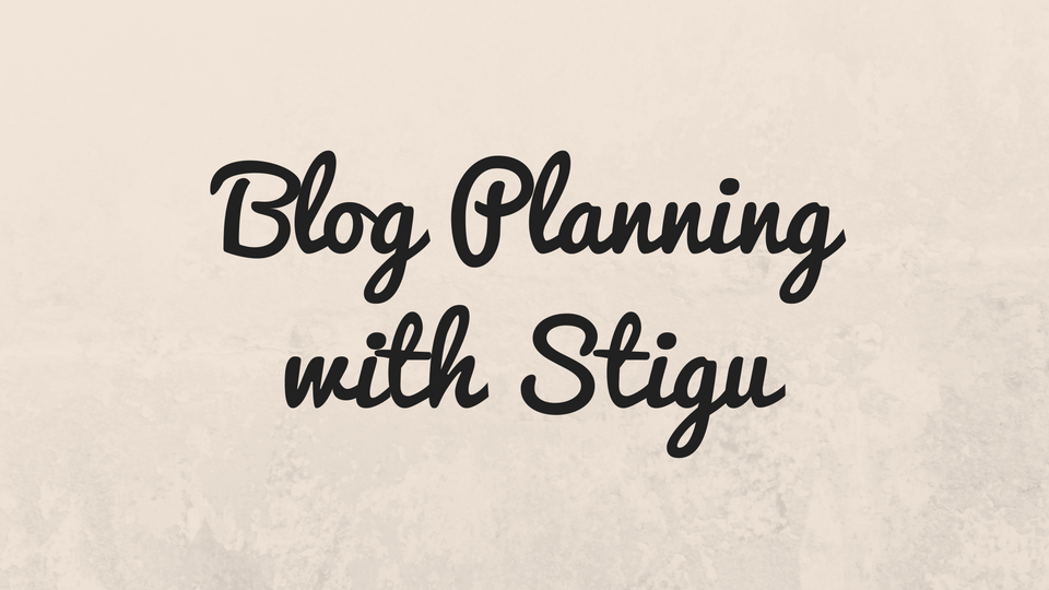 Planning for 2017 with Stigu