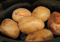 we tried slow cooker jacket potatoes - see how we got on here