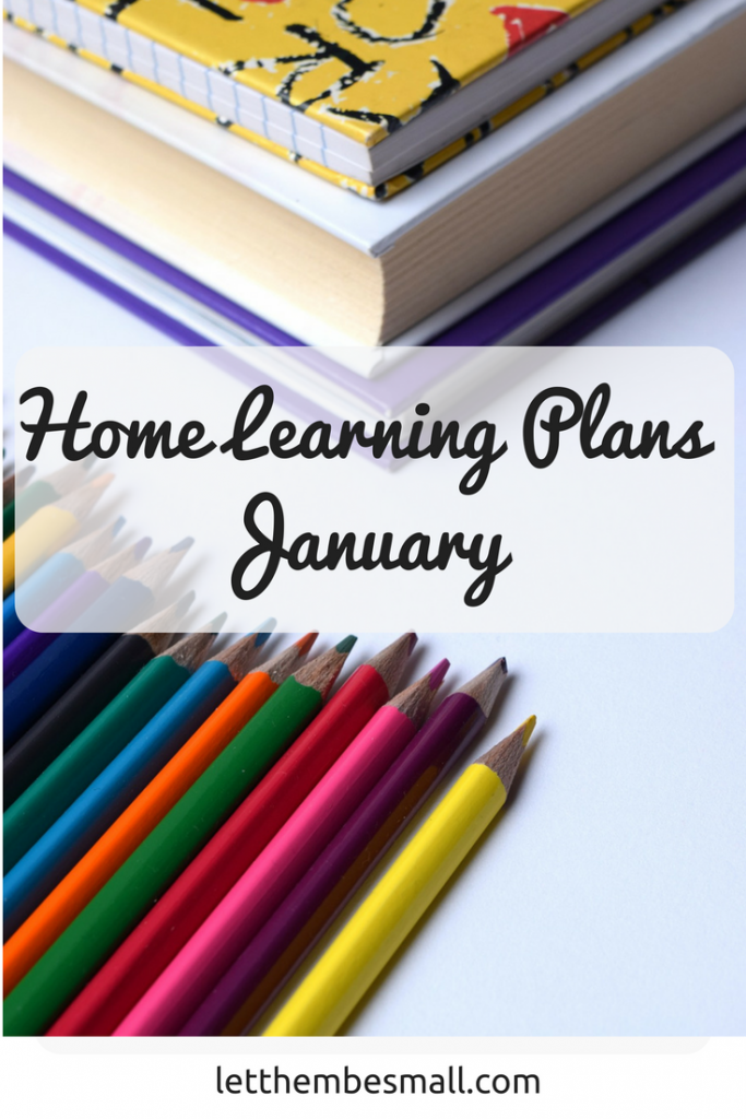 our home learning has taken a bit of a back seat in recent months, but here are our January plans