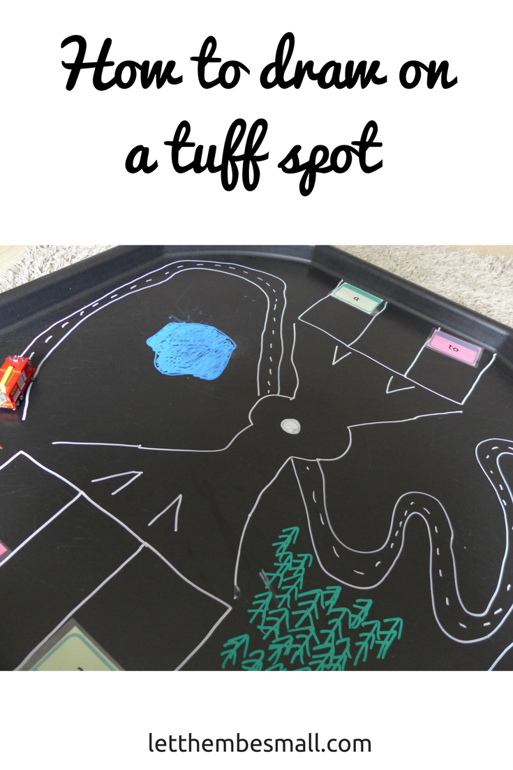 Perfect product for mark making on the tuff spot