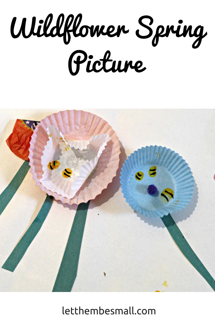 create a wild flower spring picture - great group activity and lots of opportunity to learn about the importance of bees. Bee craft