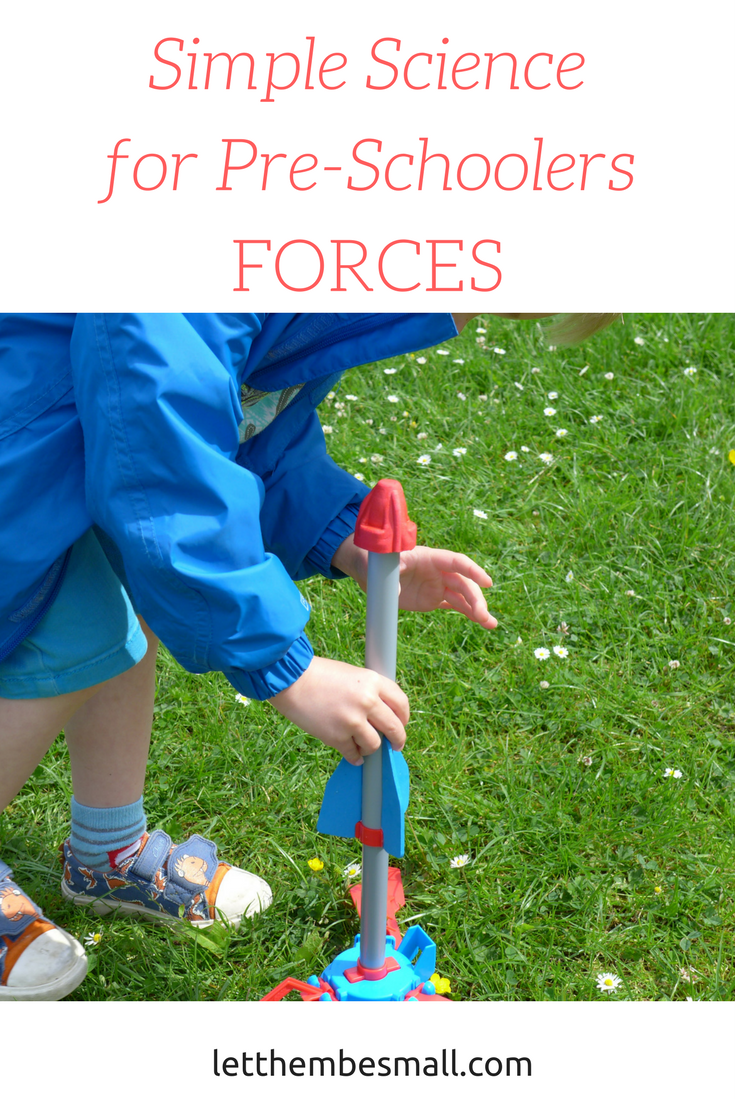 We used the airhogs jet rocket to explore early ideas about forces and cause and effect