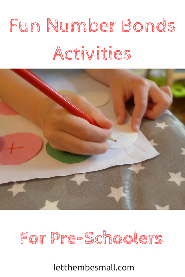 super simple but fun and effective number bond activity for pre schoolers - lots of examples of how to extend the activity too